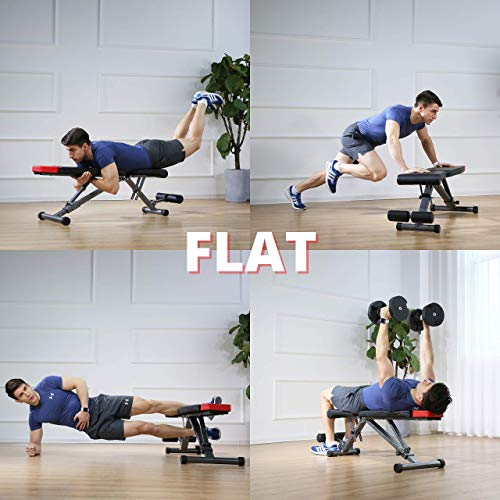 Finer Form 5-in-1 Adjustable Weight Bench and Floor Mat