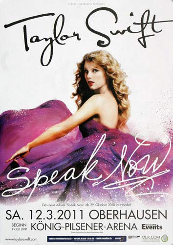 Taylor Swift - Speak OBH 2011 - Poster, Concertposter, Concert
