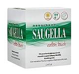 Saugella Cotton Touch assorbenti esterni giorno ad azione antiodore con ali in cotone ipoallergenici 14 pezzi
