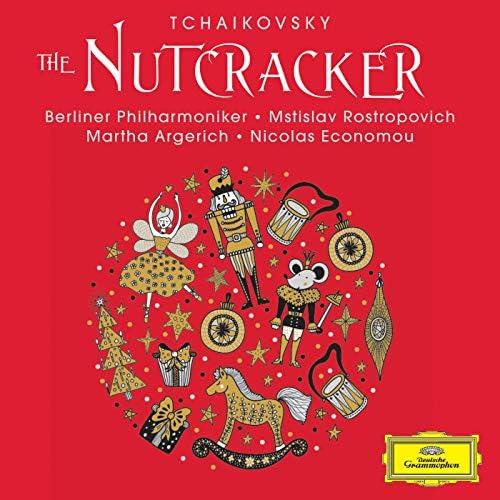 Martha Argerich, Nicolas Economou, Berliner Philharmoniker & Mstislav Rostropovich