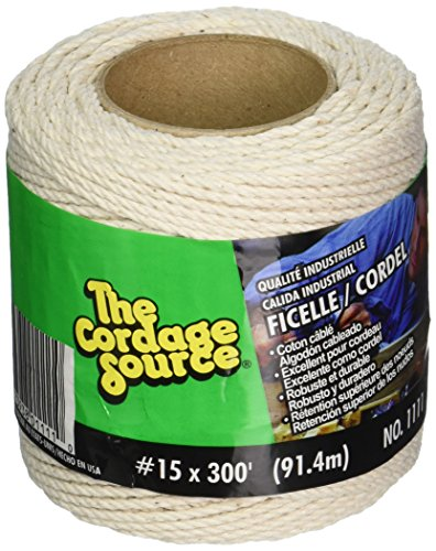Cordage Source 1111 No.15 Cotton Cable Cord, 300-Feet