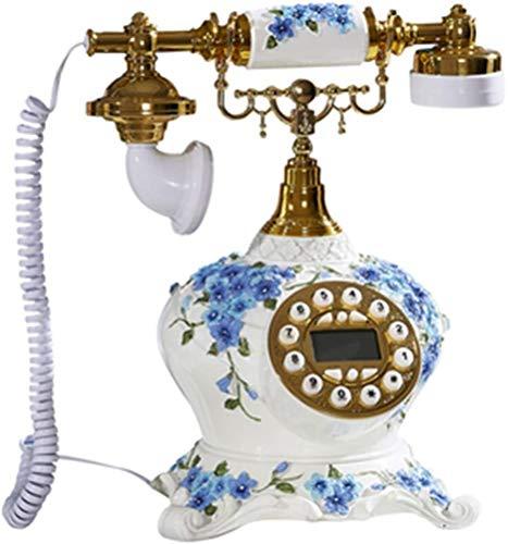 AWAING Telefonos Antiguos Vintage Teléfono rotatorio Retro, teléfonos fijos pasados de Moda del teléfono rotatorio del dial del Vintage para el hogar