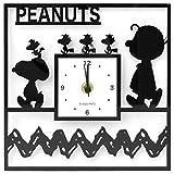スヌーピー[壁掛け時計]アクリル クロック/スクエア チャーリーブラウン ピーナッツ