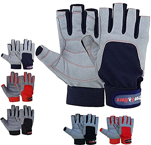 MRX BOXING & FITNESS Sailing Gloves with 3/4 Finger and Grip for Men and Women, Great for Kayaking,...