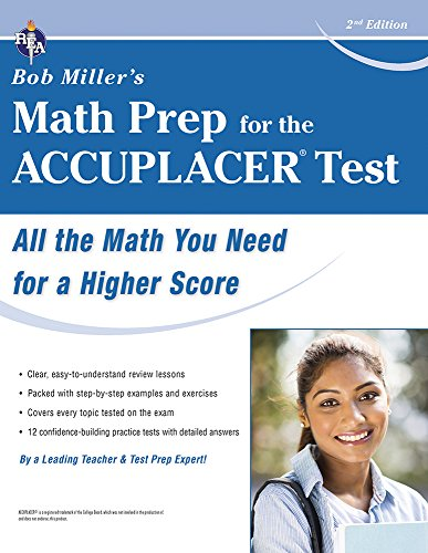 Accuplacer Test Bob Millers Math Prep For The College Placement Test Preparation
