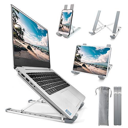 Homesuit Laptop Stander Aluminium Notebook Stand 9 Stufe Hohenverstellbar Notebook Computer Stander tragbarer Laptopstander Halter Halterung Riser mit Magnet fur alle 10156 Notebooks