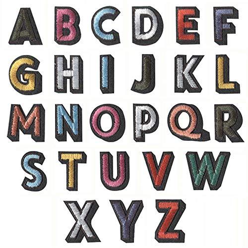 Ceqiny 26 parches para planchar o coser Pegatinas de tela bordada letras...