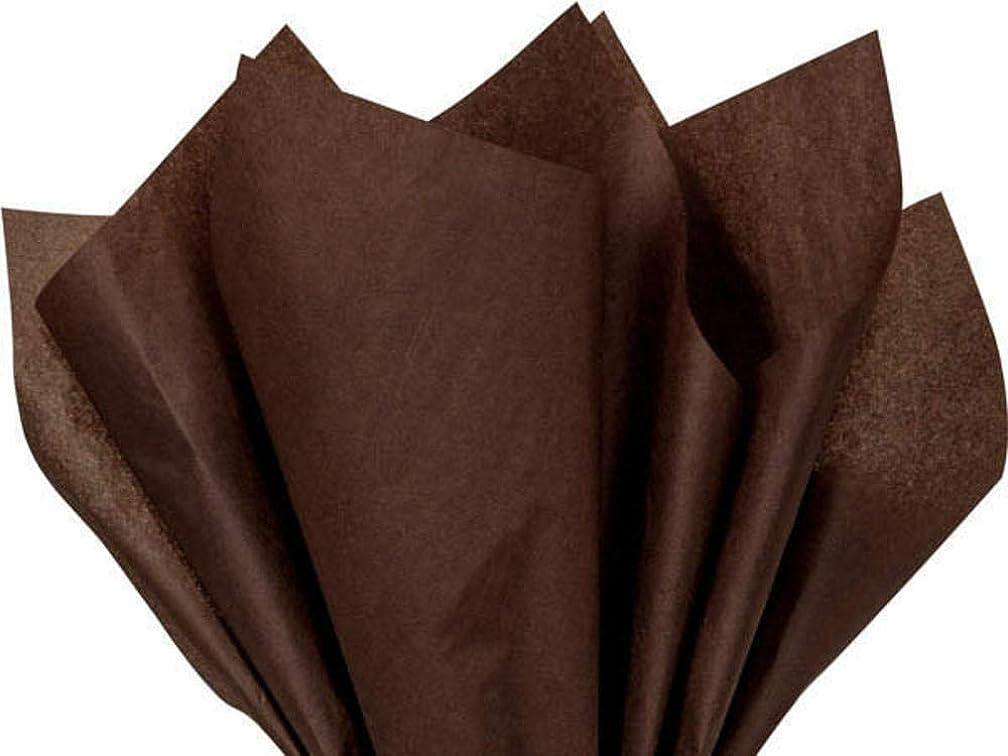 Bulk 100 Sheets Espresso Dark Chocolate Tissue Paper - 15 Inch x 20 Inch Each