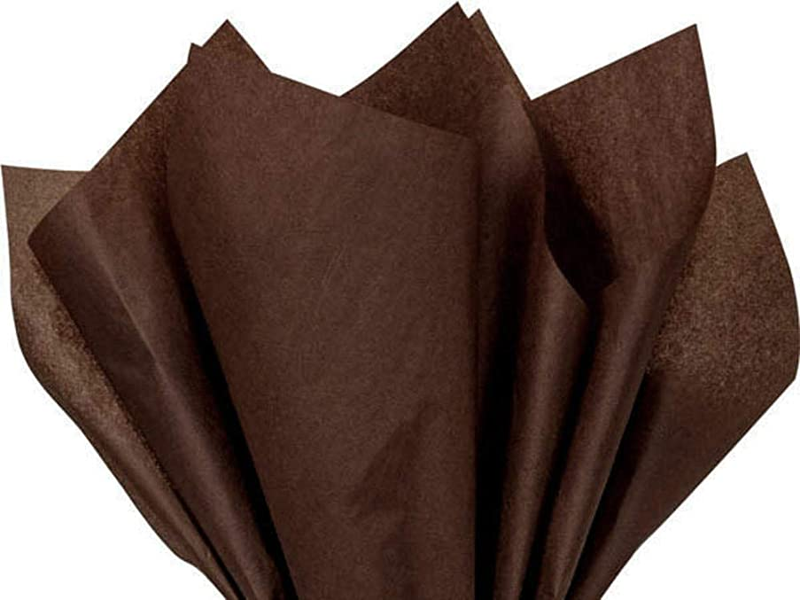 Espresso Brown Tissue Paper 20 Inch X 30 Inch - 48 Sheets Pack