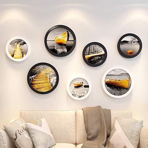 ZUQIEE Marco de fotos de pared grande para pared, marco de fotos, juego de marcos de fotos, juego de marcos de pared B64