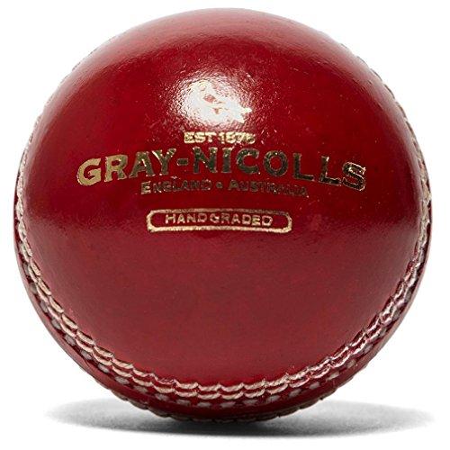 Gray-Nicolls Crest Academy - Pelota de críquet (134,7 g), color rojo