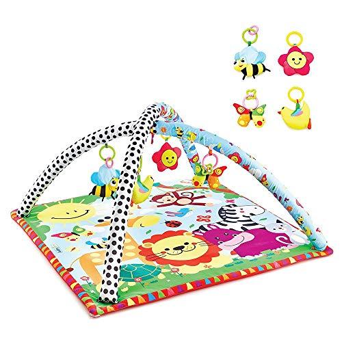 Babyjem - Alfombra de juegos para bebé, diseño de zoo, suave, diseño bonito, divertido y tutorial