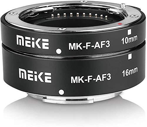 Meike F-AF3 - Tubo de extensión para cámara Fujifilm sin espejo (10 mm, 16 mm solo o combinación) X-T1 X-T2 X-Pro1 X-Pro2 X-T10 X-A1 X-E1 X-E2 X-E3 X-T20 X-T3 X-T30 X-T30