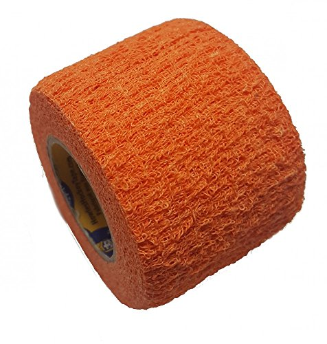 Howies Schlägertape Profi Stretch Grip Hockey-Tape, Griptape (orange), 4,57 m