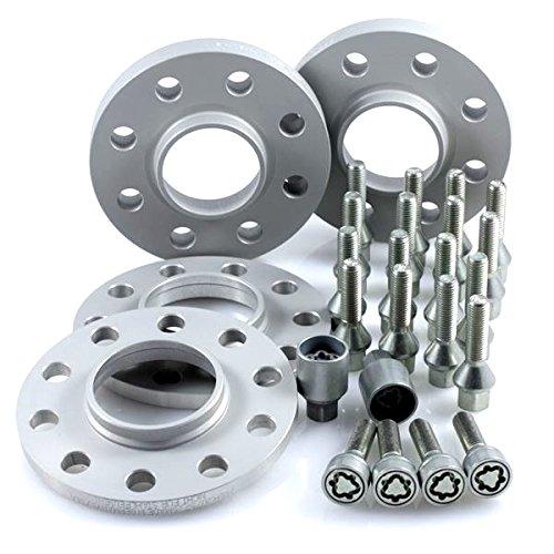 Preisvergleich Produktbild TuningHeads / H&R .0438067.DK.75726-10-13 ABE Spurverbreiterung,  VA 20 mm / HA 26 mm + Radschrauben + Felgenschlösser