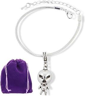 Alien Jewelry Alien Bracelet Gifts for Women Men Girls Boys Kids UFO Jewellery Accessories Decor Accessories Ancient Charm...