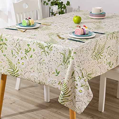 PhantasyIsland.com Carvapet Manteles Rectangular Mantel Manteles para Cocina Comedor Mesa Buffet 140 * 140cm