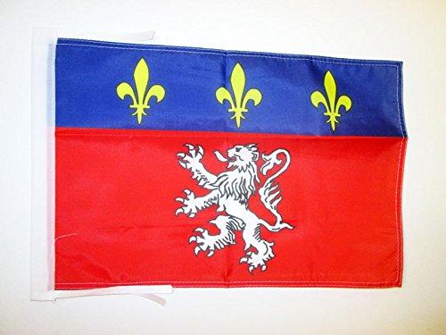 AZ FLAG Bandera de la Provincia DE Lyonnais 45x30cm - BANDERINA DE Lyon - Lion 30 x 45 cm cordeles