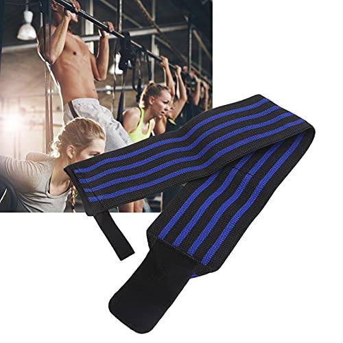 SHYEKYO Brazales del Levantamiento de Pesas de la Aptitud, Comodidad psicológica del Vendaje de los Deportes de muñeca para Entrenar para la Aptitud(Black Blue)