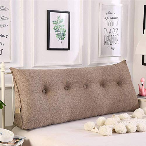 Lanrui Reading Pillow Backrest Support Pillow Daybed Pillows Wedge Triangle Wedge Cushion Bed Backrest Positioning Support Pillow Brown 20x50x180cm