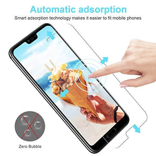 CRXOOX [3 Stück] Panzerglas Schutzfolie für Huawei Honor 10, [Anti-Kratzer/Anti-Öl] [Einfache Installation] [Blasenfrei] [3D Touch Kompatibel/9H Härte] - für Huawei Honor 10 - Transparent - 5