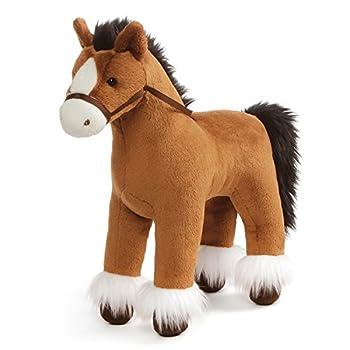 GUND Dakota Clydesdale Horse Standing Stuffed Animal Plush Brown 15