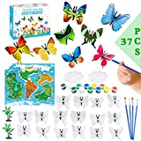 ILS - Juego de 37 piezas de pintura de mariposas pintadas a mano pintura arte arte arte graffiti pigmento set niños juguetes educativos para niños