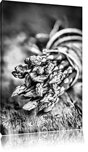 Asperges op houten tafelFoto Canvas | Maat: 60x40 cm | Wanddecoraties | Kunstdruk | Volledig gemonteerd