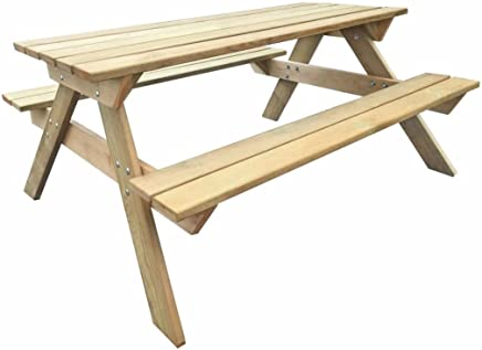 VidaXL Table De Pique Nique Bois FSC Table De Jardin Terrasse Meuble  Extérieur