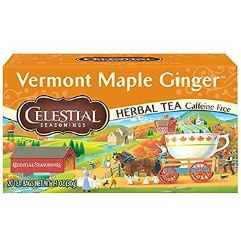 Celestial Seasonings Herbal Tea Vermont Maple Ginger 20 Count  Pack of 6