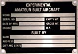 Aircraft Stainless Nameplate