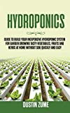 Hydroponics: Guide to Build your Inexpensive Hydroponic System for Garden Growing Tasty Vegetables, Fruits and Herbs at Home Without Soil Quickly and Easy