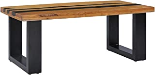 vidaXL Solid Teak Wood Coffee Table Home Living Room Office Furniture Accent Side End Tea Sofa Couch Stand Rustic 100x50x4...