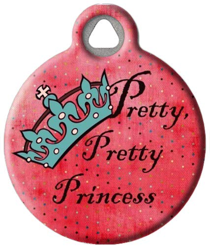 Dog Tag Art Pretty Pretty Princess Pet ID Tag for Dogs and Cats Small Size