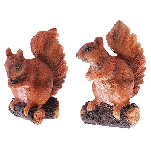 realistische Eichhörnchen Figur für Home-Office-Tisch Garten Hof Statuen