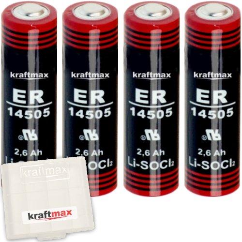 Kraftmax LS14500 batterijen, 1 : 4x Kraftmax LS 14500