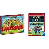 Ravensburger 26063 Familienspiele Super Mario Labyrinth, Mehrfarbig & Kartenspiele 26070 - Super Mario Level 8