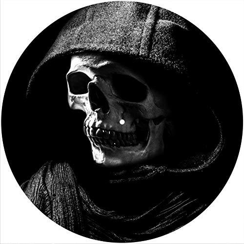 Slipmat Rutschmatte/Kratzmatte aus Filz für jeden 30,5 cm LP DJ-Plattenspieler aus Vinyl – Reaper Skull