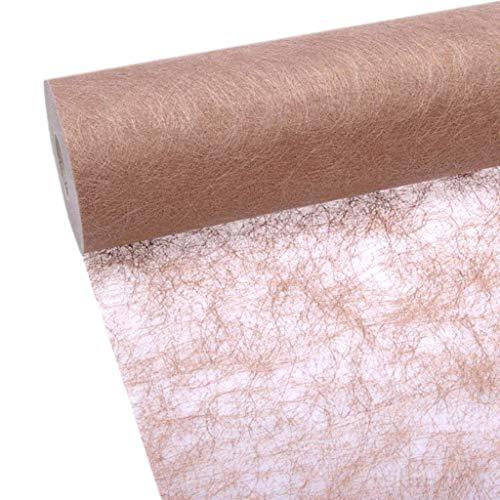 Rotolo di tessuto da tavolo Sizoflor, 25metri +100decorazioni a forma di cuore, Poliestere, rame, 30cm Breite