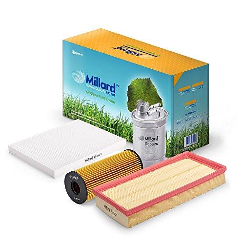 Millard Filters MZ-3670 - Kit de filtros para Leon 1 y Toledo 2,  Octavia 1