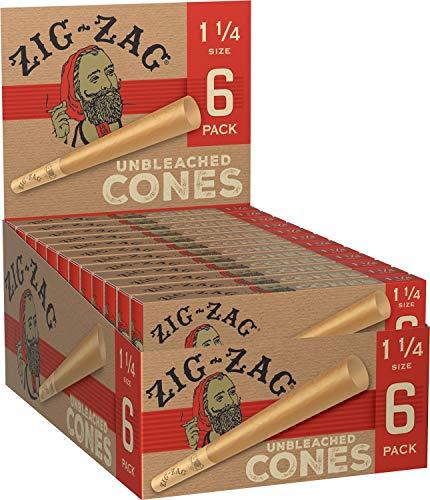 Zig-Zag Unbleached Paper Cones 1 1/4 (24 -Packs of 6) 144 Total Cones