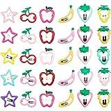 CNXUS 30 Stück Baby Haarspangen Mädchen Haarspangen, Baby Haarclips Kinderschmuck Haarschmuck Snap Hair Clips, Karikatur Entwurfs Obst Haarklammern für Damen & Kinder
