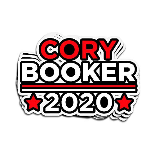 Karis Kita 3 PCs Stickers Cory Booker for President 2020 3×4 Inch Die-Cut Wall Decals for Laptop Window