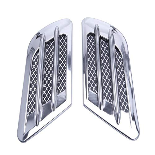 YXNVK 2x Car Side Carbon Fiber Air Vent Cover Hole Intake Duct Flow Grille Decoration Sticker,For VW Cruze Audi A3 A4 BMW F10 Polo