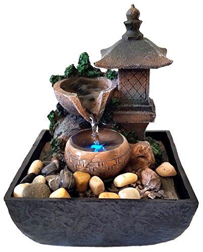 Agorà Fontana Zen Feng Shui in Poliresina Lanterna