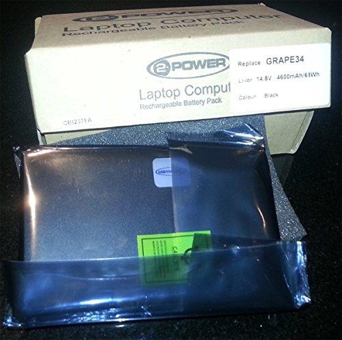 Power2 - Batería para Acer (4600 mAh, 68 Wh, 14,8 V, Li-Ion)