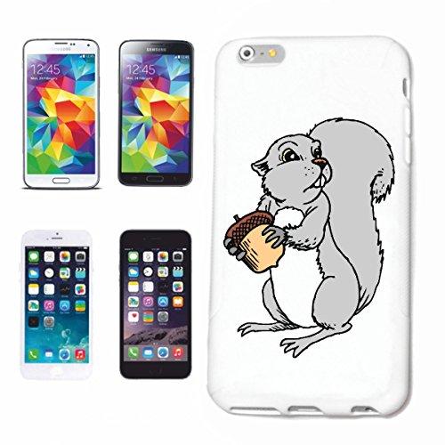 Reifen-Markt Carcasa para iPhone 6+ Plus, diseño de ardilla con el glande y dibujos animados, divertido, película de culto, divertida, funda rígida