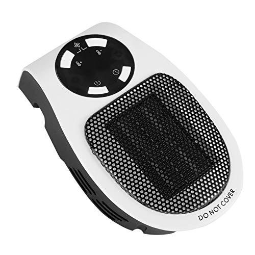 Temporizador incorporado pequeño de 110-220 V, mini calentador portátil limpio e insípido de 500 W, calentador portátil, para precalentar la habitación