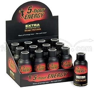5 Hour Energy Original Extra Strength Shot, 2 Ounce - 12 per pack -- 18 packs per case.