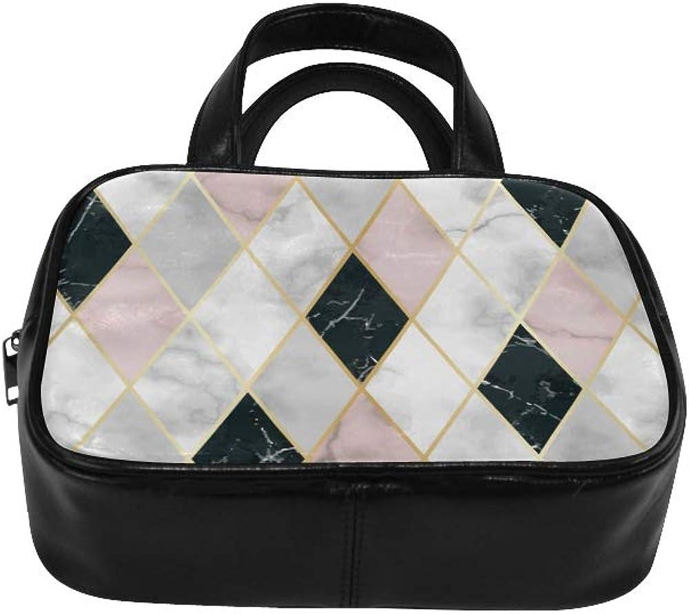 Modern Woman Bags Beautiful And Regular Marbled Lattice Girls Handbags Fashion Bags For Woman Pu Leather Top Handle Satchel Handbag Bags